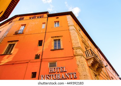 PERUGIA, ITALY - MAY 10, 2016: Architecture of Perugia, Italy. Perugia is the capital city of the region of Umbria