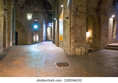 Perugia, Italy - May 22, 2009: The internal walkways of the Rocca Paolina