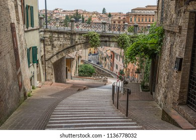 Perugia, Italy - Perugia is one of the most interesting cities in Umbria, with its medieval Old Town, its narrow alleys, and the famous acqueduct