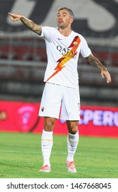 Perugia (PG), Italy - July 31,2019: Aleksandar Kolarov during friendly football match between Perugia vs AS Roma at the Renato Curi Stadium in Perugia.