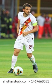 Perugia (PG), Italy - July 31,2019: Alessandro Florenzi during friendly football match between Perugia vs AS Roma at the Renato Curi Stadium in Perugia.
