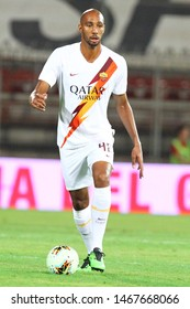 Perugia (PG), Italy - July 31,2019: Steven Nzonzi during friendly football match between Perugia vs AS Roma at the Renato Curi Stadium in Perugia.