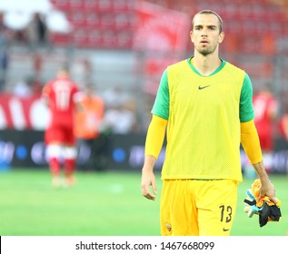 Perugia (PG), Italy - July 31,2019: Pau Lopez during friendly football match between Perugia vs AS Roma at the Renato Curi Stadium in Perugia.