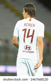Perugia (PG), Italy - July 31,2019: Patrik Schick during friendly football match between Perugia vs AS Roma at the Renato Curi Stadium in Perugia.