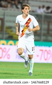 Perugia (PG), Italy - July 31,2019: Nicolò Zaniolo during friendly football match between Perugia vs AS Roma at the Renato Curi Stadium in Perugia.