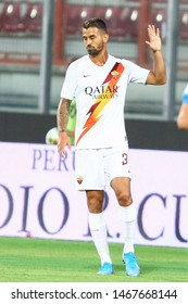 Perugia (PG), Italy - July 31,2019: Leonardo Spinazzola during friendly football match between Perugia vs AS Roma at the Renato Curi Stadium in Perugia.