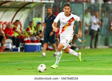 Perugia (PG), Italy - July 31,2019: Lorenzo Pellegrini during friendly football match between Perugia vs AS Roma at the Renato Curi Stadium in Perugia.