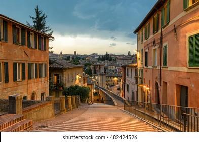 Perugia - Via dell'Acquedotto (Aqueduct street)