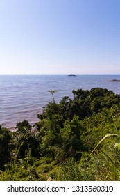 Peruibe, SP / Brazil - The Jureia Ecological Station and the Atlantic ocean view.