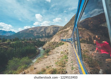 PeruRail Titicaca Train, Peru - August 16th, 2018: Wonderful view from the Peru Titicaca Train from Cusco to Puno, Peru. It is from Cuzco across the Altiplano to Puno and Lake Titicaca in southern Per