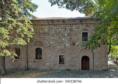 PERUSHTITSA, BULGARIA - SEPTEMBER 4 2016: Church monument St. Archangel Michael, Perushtitsa, Plovdiv Region, Bulgaria