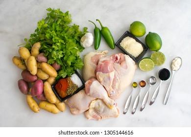 Peruvian Chicken with Aji Verde (Green Sauce) Ingredients