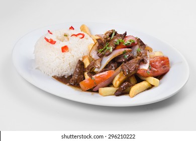 Peruvian cuisine: Lomo saltado, Salted beef.