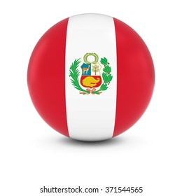 Peruvian Flag Ball - Flag of Peru on Isolated Sphere