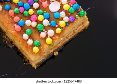 """PERUVIAN FOOD: Turron """"Doña Pepa"""" it a traditional dessert of Lima, served in October and related to the Lord of Miracles."""
