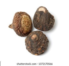 Peruvian ginseng or maca (Lepidium meyenii), dried root and slice