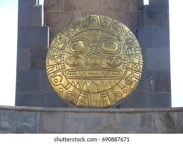 Peruvian golden sun. Cuzco, Peru