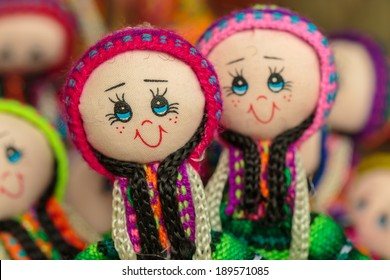 Peruvian handicraft dolls