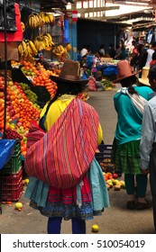 Peruvian indigenous people at the market