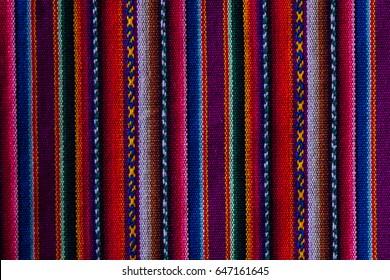 Peruvian material  cloth texture