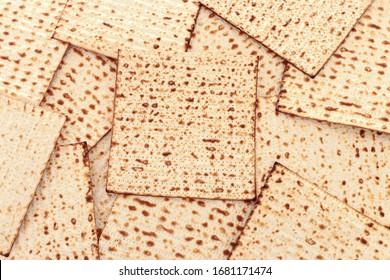 Pesah celebration concept (jewish Passover holiday) with matzoh