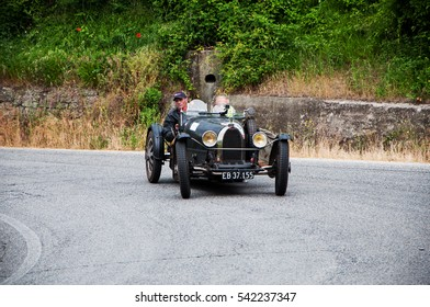 PESARO, ITALY - MAY 15: BUGATTI T 37 Grand Prix 1926 old racing car in rally Mille Miglia 2015 the famous italian historical race (1927-1957) on May 15 2015
