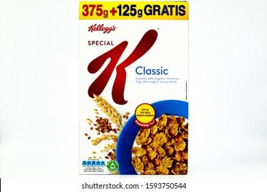 Pescara, Italy – December 20, 2019: Special K Classic Kellogg's box