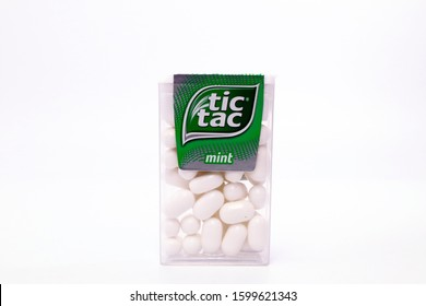 Pescara, Italy – December 26, 2019: TIC TAC Mint candies. Tic Tac is a brand of Ferrero