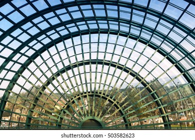 Pescara, Italy - September 23, 2016: architectural detail of the structure of the airport of Pescara with nobody