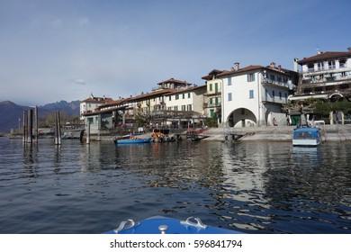 Pescatori Island, boat tour form Stresa, Maggiore Lake, Piedmont, Italy 1 March 2017