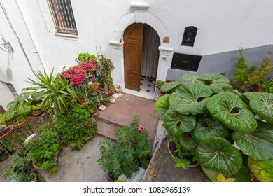 PESCHICI, ITALY - APRIL 29, 2018 - Peschici is a little picturesque village in Puglia, south Italy. It belongs to the Gargano National Park and it is famous for the white houses and the narrow alleys