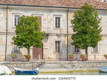 Peschiera del Garda, Italy. August 23, 2018. Garda Lake. The old military buildings in the city center