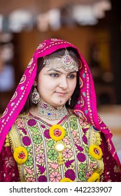 PESHAWAR, PAKISTAN - AUG 16 ,2015 : model in pashto cultural Dress,  The two-day event ,Cuisine and Culture Festival, was organised by TCKP , on Aug 16 of 2015 Peshawar Garrison Service club.