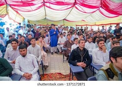 PESHAWAR, PAKISTAN - feb 27 ,2018:  school fear well party 27 feb, 2018 qissa khwani Peshawar