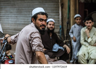 Peshawar, Pakistan - June 09, 2018: Pakistanian Baker on the Street