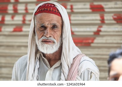 Peshawar, Pakistan - June 10, 2018: Old Man in the Traditional Clother