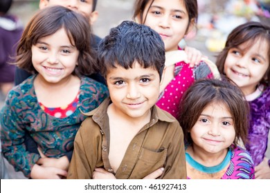 PESHAWAR, PAKISTAN -  may: A group of Brothers and Sister in happy mode, on 27 may, 2015 Peshawar