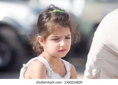 PESHAWAR, PAKISTAN - Sept 27 ,2017: cute afghan Girl in HAyatabad peshawar of pakistan  on 27 Sept, 2017 Peshawar