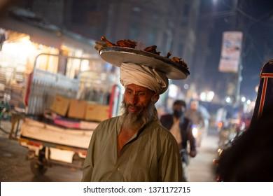 PESHAWAR, PAKISTAN - Sept 27 ,2017:  local vendor is selling donuts 27 Sept, 2017 Peshawar