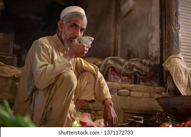 PESHAWAR, PAKISTAN - Sept 27 ,2017:  vegitable is taking Green tea break in shop27 Sept, 2017 Peshawar