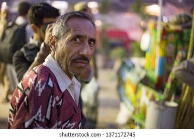 PESHAWAR, PAKISTAN - Sept 27 ,2017:  a senior person is looking camera 27 Sept, 2017 Peshawar