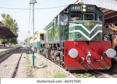 PESHAWAR, PAKISTAN -  Sept 27: a view of Pakistan Rail and KPK government arrange it for Azadi Train event for Peoples, on 27  Sept, 2015 Peshawar