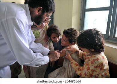 PESHAWAR, PAKISTAN - SEPTEMBER 12: children's hospital  on September 12, 2010 in Peshawar, Pakistan