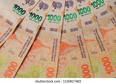 Peso Argentino. Argentine money. New designs of Argentine money.