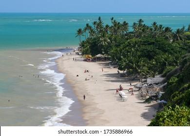 João Pessoa, Paraíba / Brazil - 12/06/2007: Seixas Beach, easternmost point on the American continent