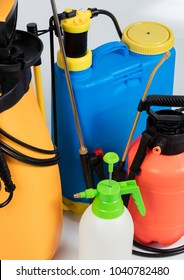 pest control sprayers on isolated white background