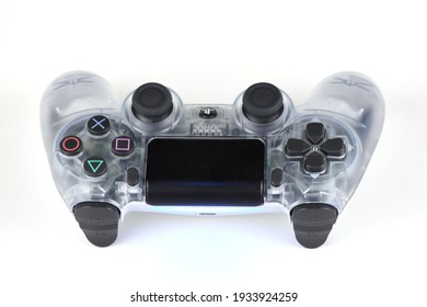 Pest, Hungary - 12.30.2020: Sony Play Station 4 Dualshock controller at home