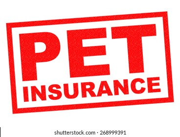 PET INSURANCE red Rubber Stamp over a white background.