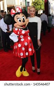"Peta Murgatroyd with Minnie Mouse at ""The Lone Ranger"" Premiere, Disney's California Adventure, Anaheim, CA 06-22-13"