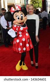 "Peta Murgatroyd and Minnie Mouse at ""The Lone Ranger"" Premiere, Disney's California Adventure, Anaheim, CA 06-22-13"